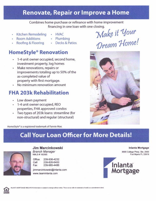 Home Loans for Repairs and Rehabilitations